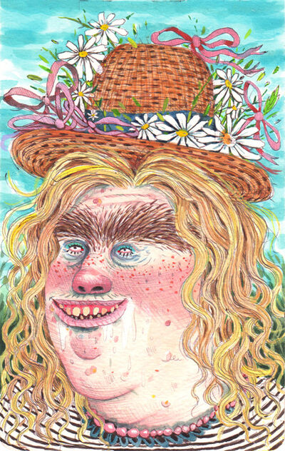Rebecca Morgan, 'Spring Bumpkin with Ribbon Hat', 2015