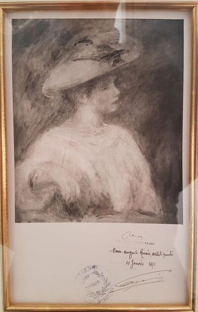 Pierre-Auguste Renoir, 'Hand-signed (by Renoir) Studio Photograph', 1911