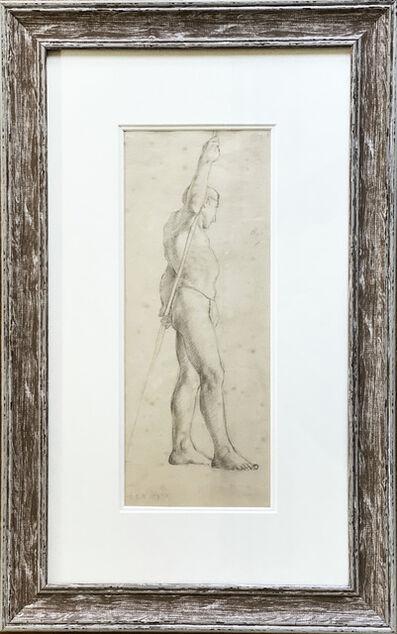 L.S. Lowry, 'Man holding a pole', 1919