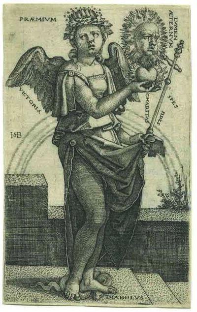 Hans Sebald Beham, 'Allegorie des Christentums – Allegory of Christianity'