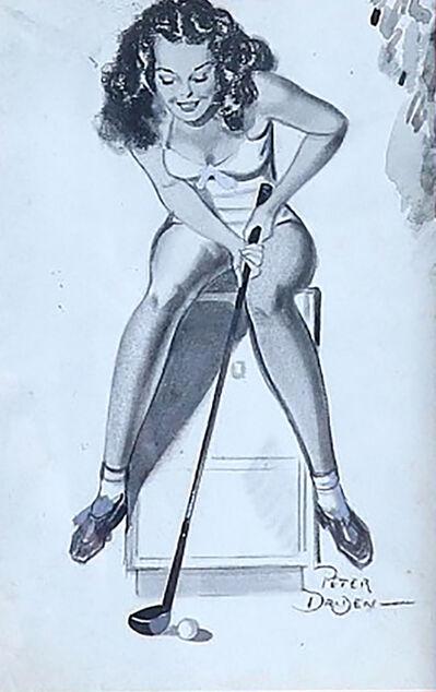 Peter Driben, 'Girl Playing Golf', 1940s