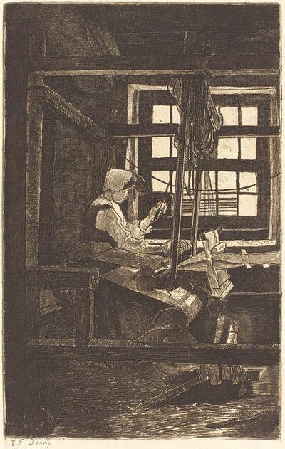 François Bonvin, 'Weaver (La Tisserande)', 1871