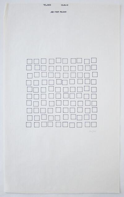 Vera Molnar, 'Tout petit des ordres (15.00.13)', 1975