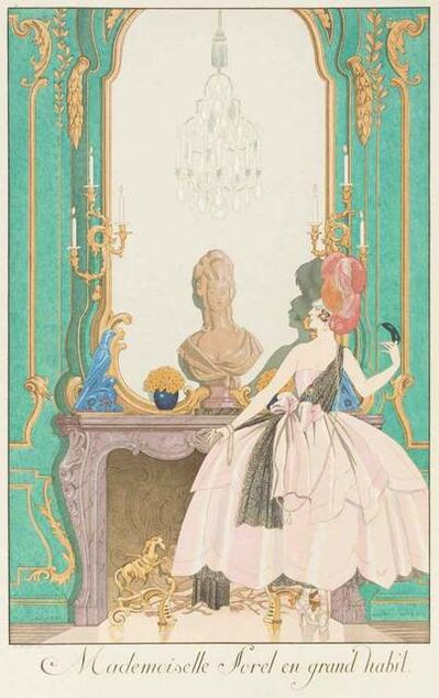 Georges Barbier, 'Mademoiselle Sorel en grand habit', 1920