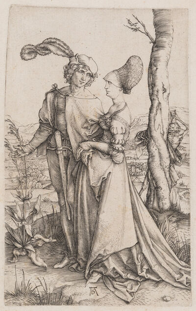 Albrecht Dürer, 'Young Couple Threatened by Death (The Promenade)', 1498