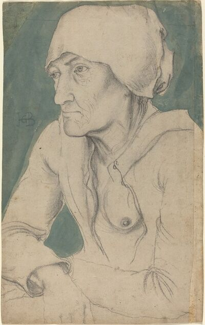 Hans Baldung, 'Half-Figure of an Old Woman with a Cap', ca. 1535