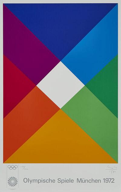 Max Bill, 'Poster: Olympische Spiele Munchen', 1970