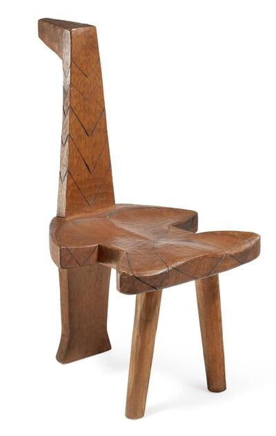 Gunnar Westman, 'A Naïve artist's stool in the shape of a bird, carved from pine wood.'
