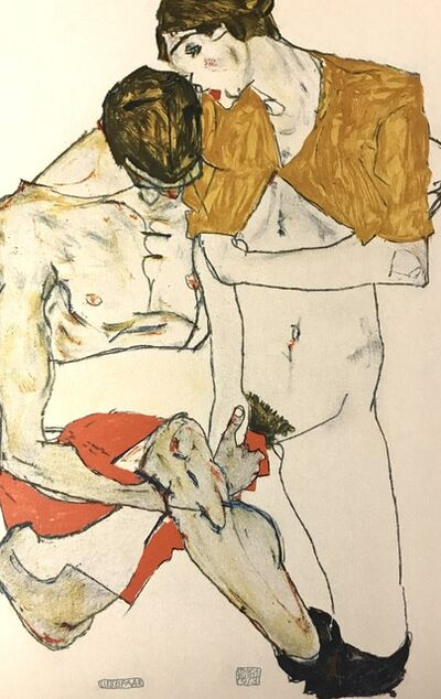 Egon Schiele, 'Two Lovers', 2007