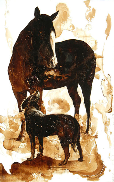James Griffith, 'Horse and Dog', 2016
