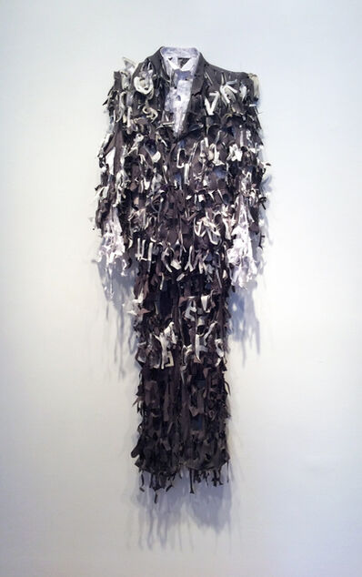 Lesley Dill, 'Grey Poem Suit', 2014