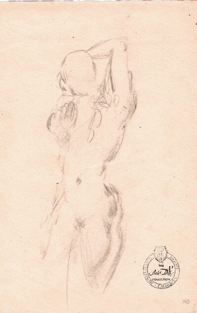 Salvador Dalí, 'Nu Féminin (front and back view - 2 separate drawings on 2 sheets)', ca. 1963