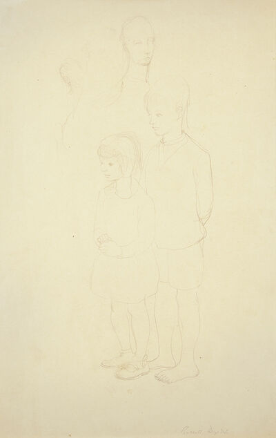 "Sir Russell Drysdale, 'Study for ""Two Children""', 1945-1946"