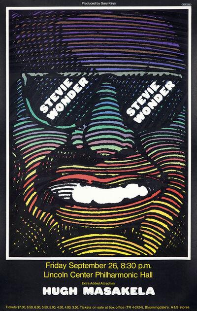 Milton Glaser, 'Milton Glaser Stevie Wonder concert poster (Milton Glaser posters)', 1968