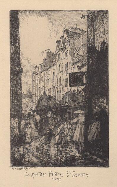 Auguste Lepère, 'La Rue des Pretres St. Severin Paris', 1890-1900