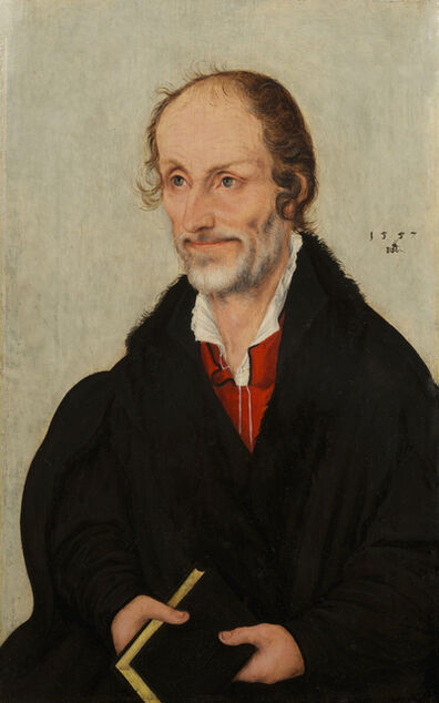 Lucas Cranach the Younger, 'Portrait of Martin Luther and Portrait of Philippe Melanchthon', 1557