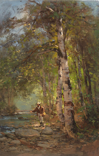 Thomas Hill, 'Fisherman in the Woods ', Date Unknown