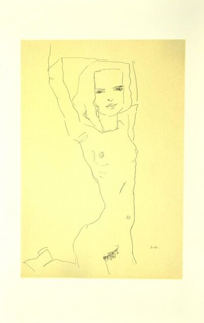 Egon Schiele, 'Nude Girl with Raised Arms', 2007