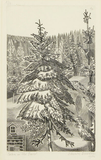 Edward Bawden, 'Cabin in the Woods', 1952