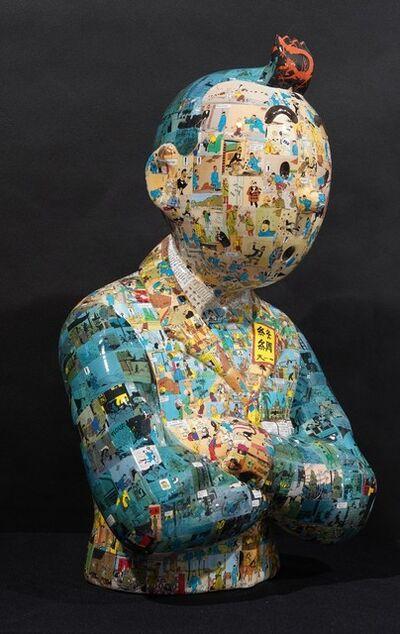 """Peppone, 'TINTIN Bras croisés - """"Le manteau de l'enfance"""" - Le lotus bleu (60 cm)', 2019"""