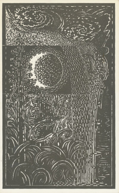 John Craxton, 'Moon, Bird & Water', 1977