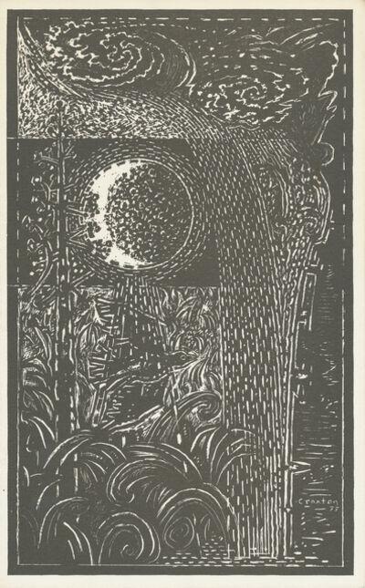 John Craxton, 'Moon, Bird & Water', 1977