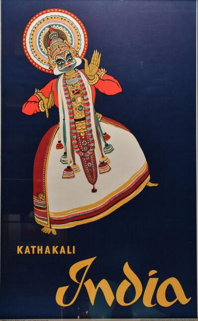Vintage Travel Poster, 'Kathakali', 1958