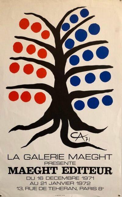 Alexander Calder, 'Vintage Poster 1971 Galerie Maeght Arte Paris Tree with Fruit Lithograph', 1970-1979