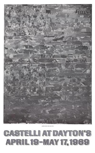 Jasper Johns, 'Castelli at Dayton's (Two Flags 1959)', 1969