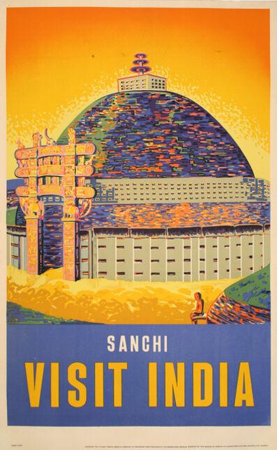 Vintage Travel Poster, 'Visit India – Sanchi', ca. 1950