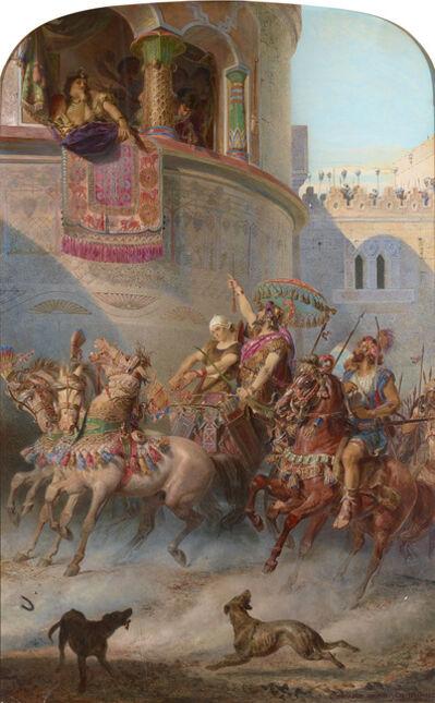 Edward Henry Corbould, 'Jehu Enters the City of Jezreel', 1866