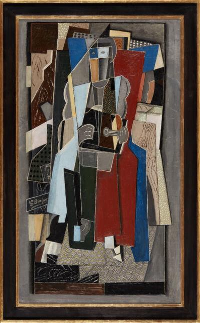 "Arvid Fougstedt, 'La Musicienne Paris (freely after Georges Braque, ""La Musicienne"" 1917–1918, Kunstmuseum Basel)', 1920"