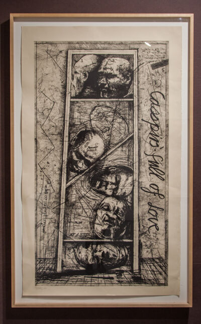 William Kentridge, 'Early Prints And Drawing Casspirs Full Of Love', 1989