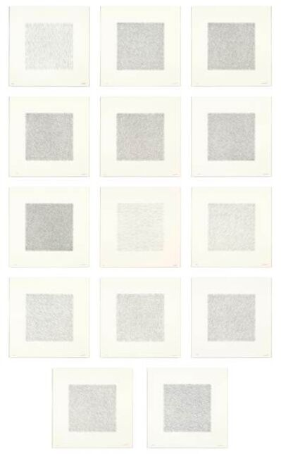 Sol LeWitt, 'Lines of One Inch in Four Directions and All Combinations', 1971