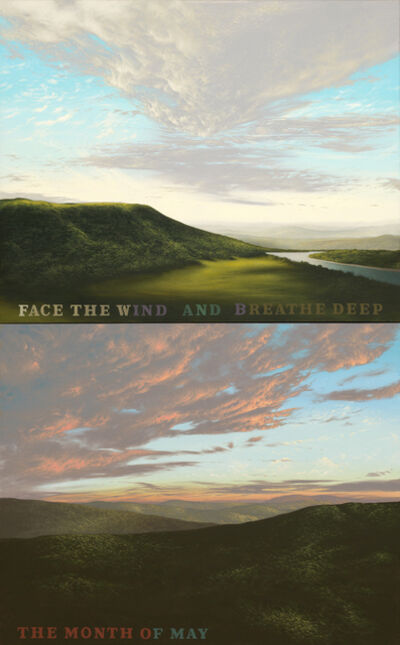 Charles Malzenski, 'Face the Wind (Diptych)', 2015