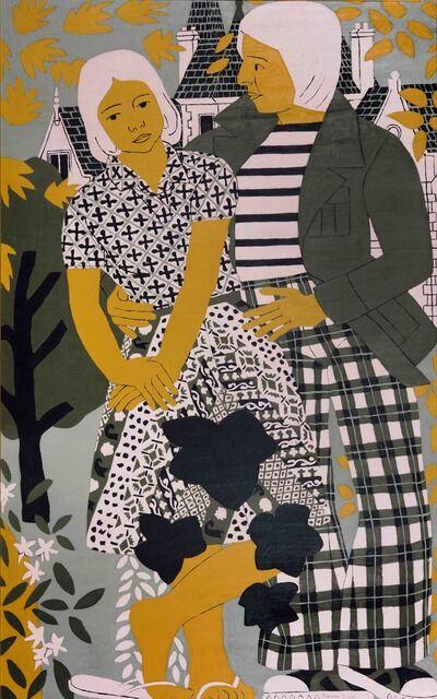 Norman Gilbert, 'Figures in the Park', 1978