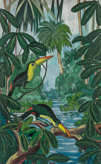 Jane Peterson, 'Toucans in the Jungle'