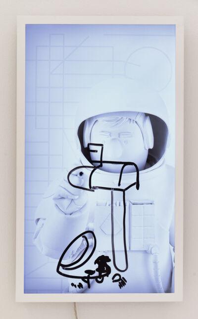 Brian Bress, 'Astronaut (Boris on grey lines)', 2018
