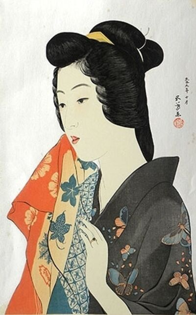 Goyo Hashiguchi, 'Woman with Hand Towel', ca. 1921