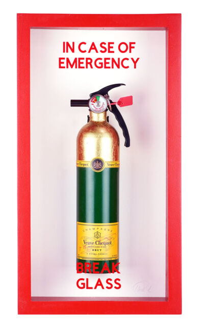 "Plastic Jesus, '""In Case of Emergency Break Glass""  Vueve Cliquot Midi Edition Fire Extinguisher ', 2020"