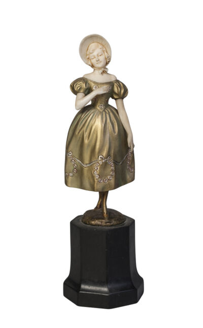 Ferdinand Preiss, ''Victorian Lady', a cold-painted bronze and ivory figure', c. 1930