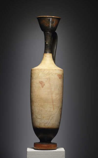 Unknown Greek, 'A Large White-ground Lekythos, Attributed to the Triglyph Painter', Attic-ca. 410 B.C.