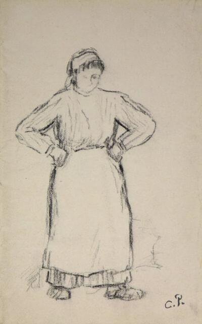 Camille Pissarro, 'Paysanne, les Mains sur les Hanches', 19th century