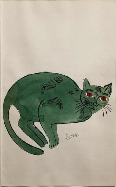 Andy Warhol, '25 Cats Name[d] Sam and One Blue Pussy IV.67', ca. 1954