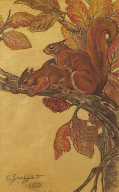 Gaston Suisse, 'Red squirrels', 1935