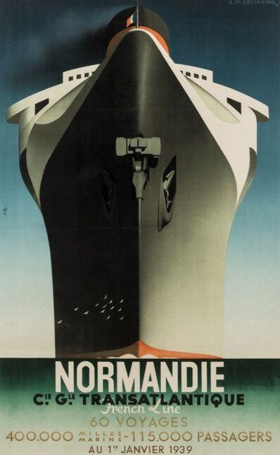 Alphonse Mouron Cassandre, 'Normandie Inaugural Voyage', 1938