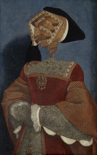 Gerlinde Miesenböck, 'Caput # 01 / 881, based on JANE SEYMOUR (ca. 1509-1537) by Hans Holbein d. J.', 2018