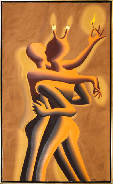 Mark Kostabi, 'Light My Fire', 1989