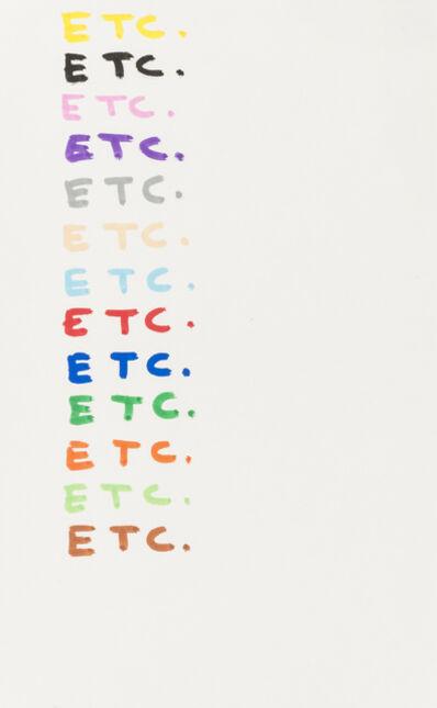 David Shrigley, 'Etc.', 2007