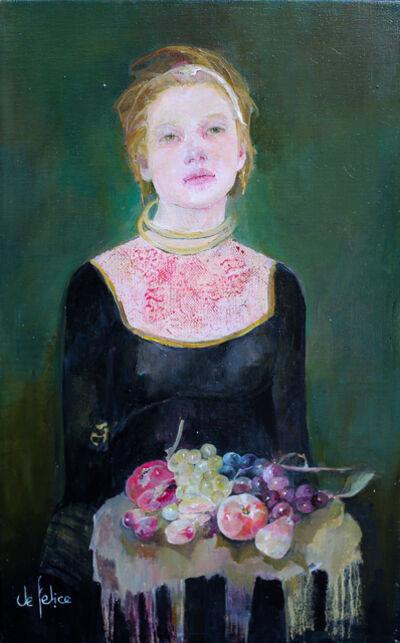Françoise de Felice, 'La jeune fille aux fruits', 2019